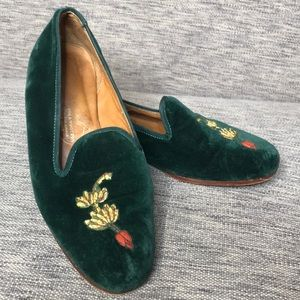 Stubbs & Wootton velvet slip on shoes
